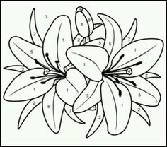 black, outline, drawing, flower, white, flowers, free | Drawing ...