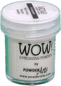 WOW Embossing Powder SILVER PEARL Regular WE02R {JM uses in WC card with Altenew Stamps & Kuretake WCs}