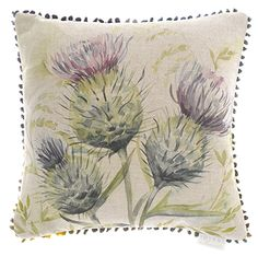 Buy Voyage Thistle Glen Cushion from our Cushions range at John Lewis & Partners. Scottish Decor, Scottish Thistle, Voyage Fabric, Country Cushions, Cosy Home, Cushions Online, Chiffon, Crafts Beautiful, Velvet Cushions