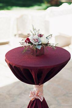 Lush Burgundy Hued Wedding Inspiration at The Landmark|Photographer: Ivonne Carlton Photography