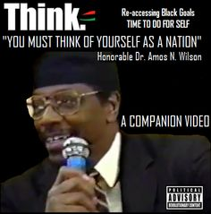"""We must keep focus on changing the nature of power in this world.""Dr. Amos Wilson , video attached http://youtu.be/Jm99pr0Rh9w"