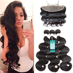 UDU Hair 13x4 Ear To Ear Lace Frontal Closure with Bundles Brazilian Virgin Hair Body Wave with Lace Frontal Human Hair 3 Bundles Human Hair Weave Extension Natural Color 22 24 26 18 frontal ** Details can be found by clicking on the image-affiliate link. #BeautySalonEquipment