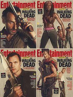cast twd the walking dead season 3 ew Andrew Lincoln Norman Reedus Magazine Cover david morrissey Danai Gurira Michael Rooker