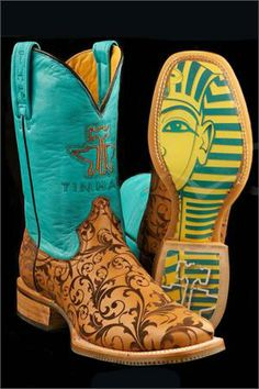 Tin Haul Boots Women's DaMask King Tut Cowgirl Boots WANT!!!!