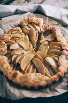 Nothing but Delicious: Apple galette with gruyere/vodka crust