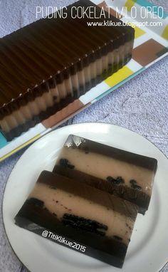 PUDING COKELAT MILO OREO Modif ; Titi Klikue Kombinasi rasa dari cokelat, susu milo dan oreo tersaji dengan cantik dalam puding cokelat m...