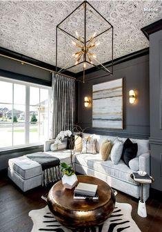 Wallpaper On Ceiling Malachite By Fornasetti Dark Grey Sofa Living Room Ideas Coffee