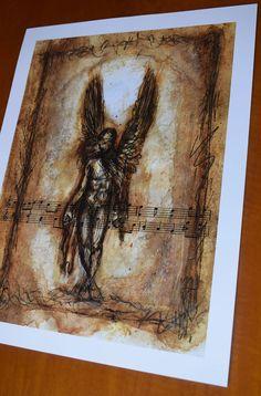 Fallen Angel Digital print Premium Satin Photo Paper 300 gm | Etsy #fallenangel #bookofenoch #angel #fallen #enoch biblical Mystic, Digital Prints, Angel, Paper, Fall, Painting, Etsy, Fingerprints, Autumn