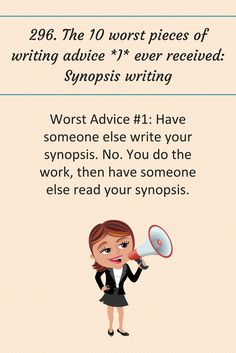 296: The 10 worst pieces of writing advice *I* ever received: Synopsis writing. #writingtips #amwriting #writing #books