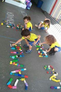Name Activities Preschool, Preschool Literacy, Toddler Learning Activities, Preschool Activities, Kids Learning, Early Childhood Education, Kids Education, Special Education, Legos