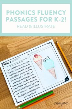 These phonics fluency passages are the perfect way for k-2 students to practice reading for fluency! After you've taught a phonics pattern, students can read, re-read, and illustrate to show understanding.These types of passages are great for small group practice to target skills students need extra help! Download the preview to see more! #firstgradephonics #Secondgradephonics #Phonics #Phonicsactivities