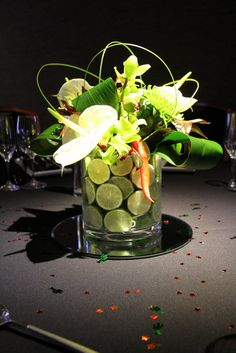 Flower Design Events: Limes & Chillies Table Design