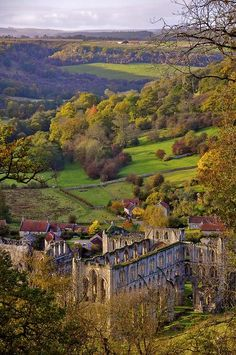 Rievaulx Abbey from the Terrace, North Yorkshire, England