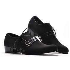 Zapatos de boda de cuero real tacones bajos Moderno y zapatos de moda para Hombres – USD $ 29.99