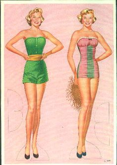 June Allison paper dolls
