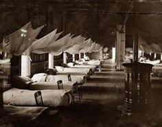 *CIVIL WAR HOSPITAL~Civil War Hospital. Here for your consideration is an old picture of Washington,District of Columbia. Hospital Ward.It was created in 1864.The photograph presents United States Military Hospitals.