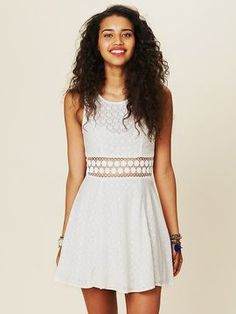 ShopStyle: Free People Fitted With Daisies Dress