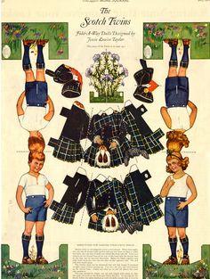 Kathleen Taylor's Dakota Dreams: Thursday Tab- Ladies Home Journal Twins, from 1922