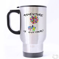 Adventure is Out There Travel Mug cheap and best quality. *100% money back guarantee