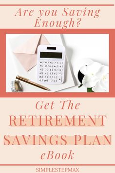 This retirment savings plan ebook covers everything from calculating how much you need to save for retirement to ideas for budgeting and investing tips. Your personal finances will be greatly improved after implementing the steps outlined in this ebook. Start reading the Best Retirement Savings Plan ebook today! #retirement #financialtips #personalfinance #investing Retirement Savings Plan, Saving For Retirement, Early Retirement, Financial Tips, Financial Planning, Ebook Cover, Personal Finance, Budgeting, Investing