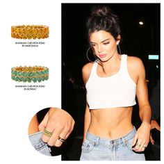 Supermodel and TV personality, Kendall Jenner, celebrated her birthday last night (3rd of November) in LA, wearing Shanhan Chevron Rings.