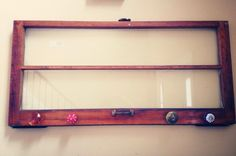 Old Windows:  After finding an old window, I loved the simplicity of the frame and glass. Added knobs and now we have a coat rack.   plumbline art We make cool stuff... Find us on Facebook!