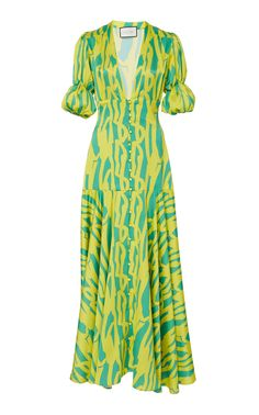 Zuella Printed Crepe De Chine Maxi Dress by Alexis Outfits Dress, Fashion Dresses, Classy Outfits, Cool Outfits, Wrap Dress, Dress Up, Vestido Casual, Bridesmaid Robes, Cotton Dresses