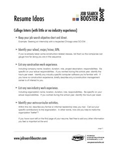 Job Objective. Career Objectives SamplesResume ...