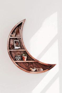moon wooden shelf