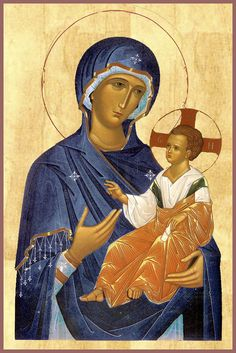 This is a treasured Icon. The faith of Jesus Blessed Mother Mary is beyond words. Madonna Art, Madonna And Child, Byzantine Icons, Byzantine Art, Religious Icons, Religious Art, Anima Christi, Blessed Mother Mary, Art Icon