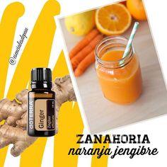 Dale un twist a tu jugo mañanero  y aumenta tu inmunidad con el poder del jengibre!!  Solo agrega una gota de aceite esencial de jengibre dōTERRA y disfruta ✨