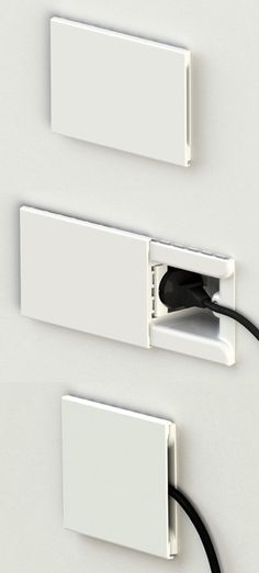 Concealed Wall Socket With Sliding Door http://stuffyoushouldhave.com/concealed-wall-socket-with-sliding-door/