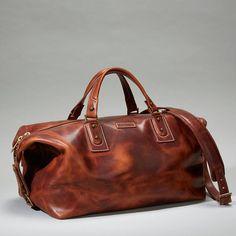 Coronado Leather Americana Duffel Leather Bag