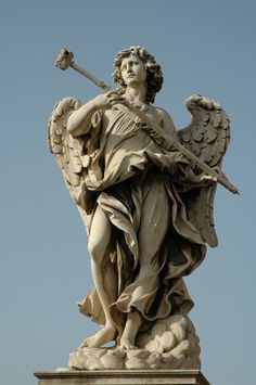 Rome--Castle St Angelo statue on the bridge