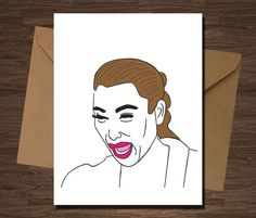 Kim Kardashian Crying Sorry Card Get Well Happy Belated Birthday Funny