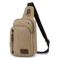 Material:Canvas Lining Material:Polyester Color:As the picture Weight:310g Length:17cm(6.69'') Width:9cm(3.54'') Height:25cm(9.84'') Structure:Main Pocket,Front Pocket,Zipper Pocket,Phone Pocket,Card Pocket Closure:Zipper Package Include: 1 * Bag