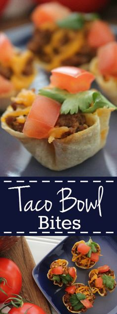 Mini Taco Bowl Bites - Easy game day or party appetizer.