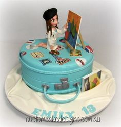 Travelling Artist 13th Birthday Cake by Custom Cake Designs
