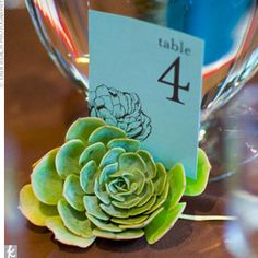 "love this table number holder and how the ""holder"" image is also used on the paper too"
