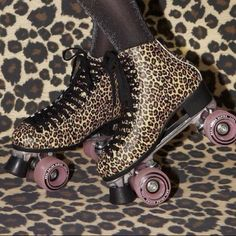 Leopard Roller Skates