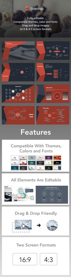 Mind Map Animation Red - PowerPoint Templates Presentation Templates
