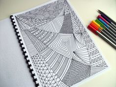 Printable Coloring Page Zentangle Inspired Coloring by JoArtyJo, $2.00