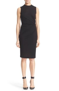 Givenchy Side Gathered Crepe Dress available at #Nordstrom