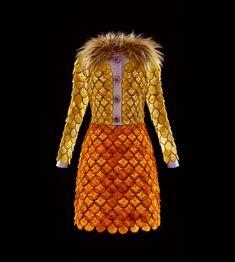 Prada dress made out of lemon and orange | Citrus by Prada. Photo by Fulvio Bonavia for Garage magazine