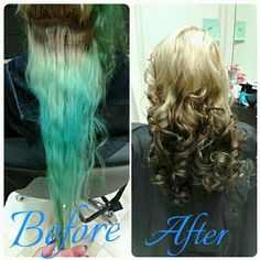 before and after of amazing hair color transformation at supercuts in erie pa