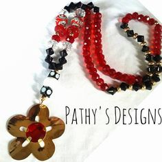 Genuine crystals, beaded handmade necklace. Special design. Gold plated and one of a kind. by PathysDesign on Etsy