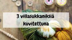 Kolme villasukkaniksiä kuvitettuna Crochet Socks, Knitting Socks, So Little Time, Knitting Patterns, Knitting Ideas, Handicraft, Mittens, Diy And Crafts, Projects To Try
