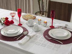 Aparelho de Jantar Chá Café 42 Peças Casambiente - Porcelana Redondo Branco Royal Castle