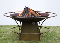 Fire Pit with Rails & Bowl