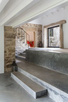 – Cottage in Lugo Detail Architecture, Interior Architecture, House On The Rock, My House, Casa Do Rock, Stone Facade, Ground Floor Plan, Village Houses, Stone Houses